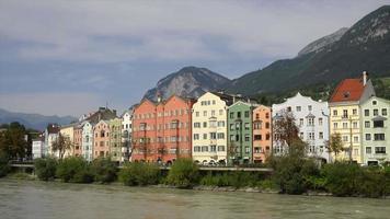 vista da cidade de innsbruck, áustria video