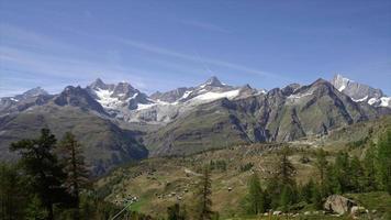 paisaje de montaña de los alpes en suiza