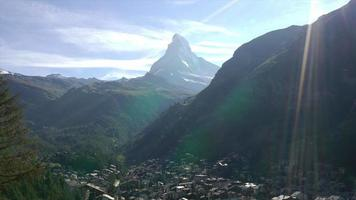 Timelapse Zermatt City, Switzerland video