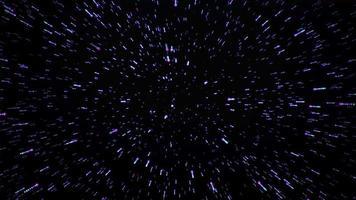 partículas brilhantes de uma explosão espacial video
