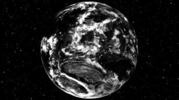superficie de nubes de tierra giratoria video