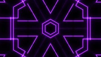 show de laser abstrato de luz neon em fundo preto
