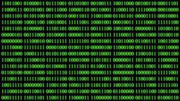 sfondo di dati di codice binario video
