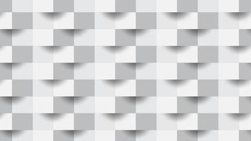 4k cubos geométricos brancos abstratos