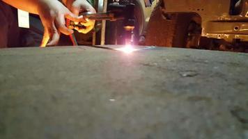 corte de acero con gas video