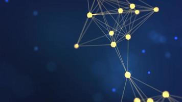 3d geometría amarilla abstracta estructura metálica voladora