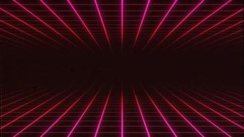 retro da tv retro synthwave 3d loop de fundo de grade dupla horizontal video