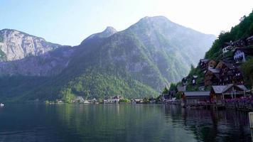 Hallstatt Village en los Alpes austríacos.