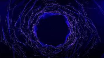 polígono abstracto con fondo de cuadrícula