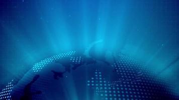 concepto de tecnología cibernética global video