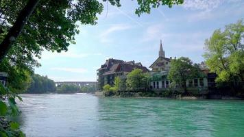 Lake in Bern City, Switzerland video