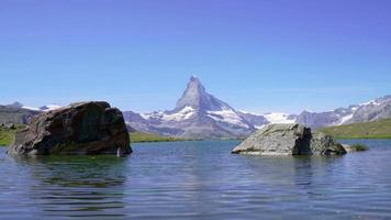 Matterhorn Bergblick in der Schweiz video