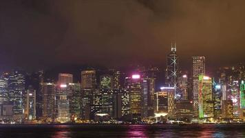 timelapse de hong kong à noite. video
