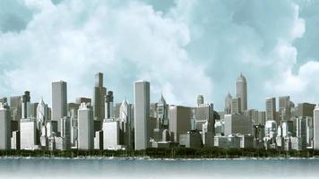 uitzicht op de skyline van de stad