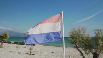 uma bandeira holandesa acenando video