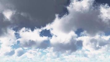 animação de céu nublado