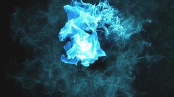 humo azul, partículas o moléculas químicas