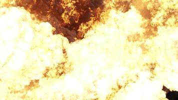 fuego, bomba o explosión nuclear video