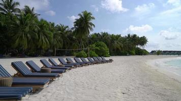 Beach Chairs in the Maldives video