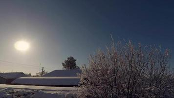 Sun Setting During Winter