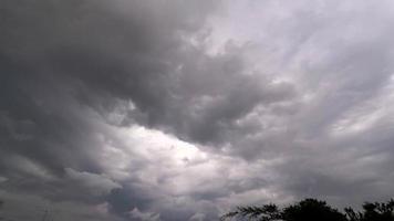 nubes de tormenta moviéndose en el cielo