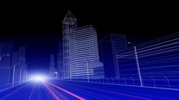 esquema de ciudad eléctrica abstracta