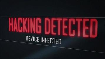 Hacking Detected Device Infected Message on Computer Screen