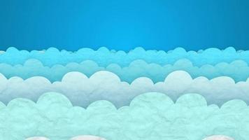Animation des Hintergrunds der schwebenden Wolken