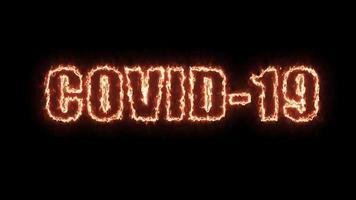 covid-19 texto fogo