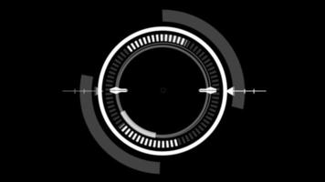 HUD Circle User Interface on Isolated Black Background