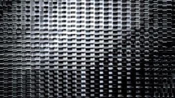 loop di strutture futuristiche in movimento