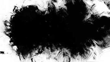 boucle de grunge d'encre noire video