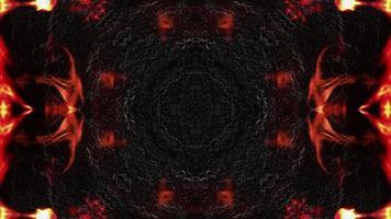 textura metálica oscura y llamas
