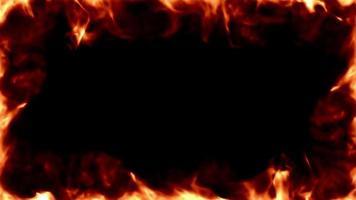 lazo de marco de llamas ardientes