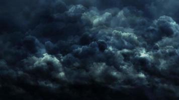 nuvens de tempestade azul-escuras video