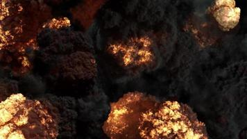 4k explosões de fogo video