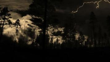 tormenta eléctrica y conducción video