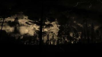 guidando oltre la tempesta di fulmini