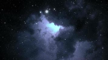 abstrakter Weltraumhintergrund und flackerndes Licht video