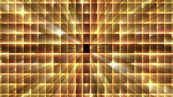 bucle de fondo de rejilla dorada