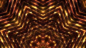 loop de fundo de luzes brilhantes douradas