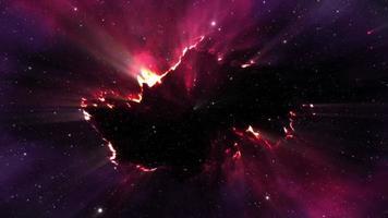 Glowing Abstract Purple Energy Loop