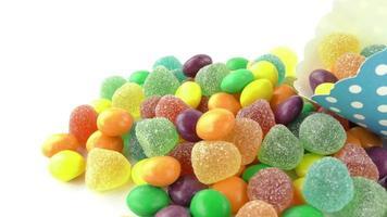 dulces caramelos de colores