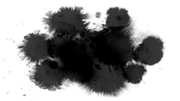 líquido negro salpicando sobre blanco video