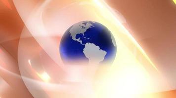 planeta terra azul e branco girando video