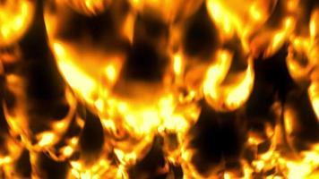 fuego abrasador dorado de lava ardiente video