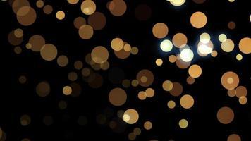 bokeh de particules de paillettes d'or video