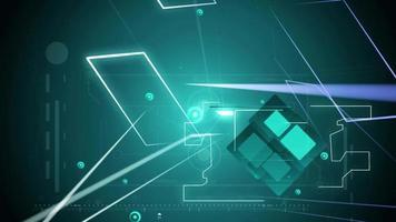 Fondo de luces de tecnología abstracta