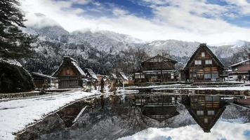 Winter in Shirakawago, Japan. video