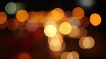 bokeh naranja de luces